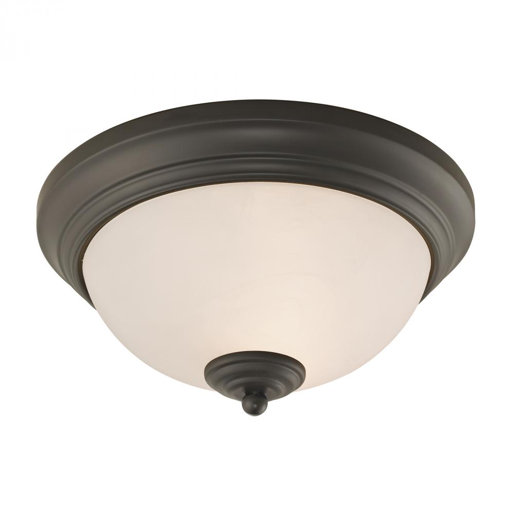 Huntington 2 Light Ceiling Lamp In Oil Rubbed Br
