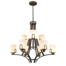 Golden 9363-9 GMT-OP - 2 Tier - 9 Light Chandelier