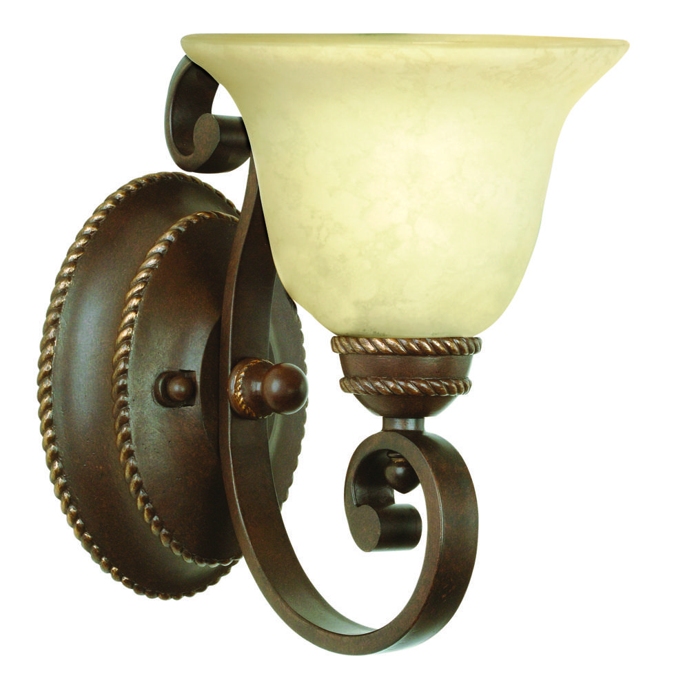 Riata 1 Light Wall Sconce in Aged Bronze Textured