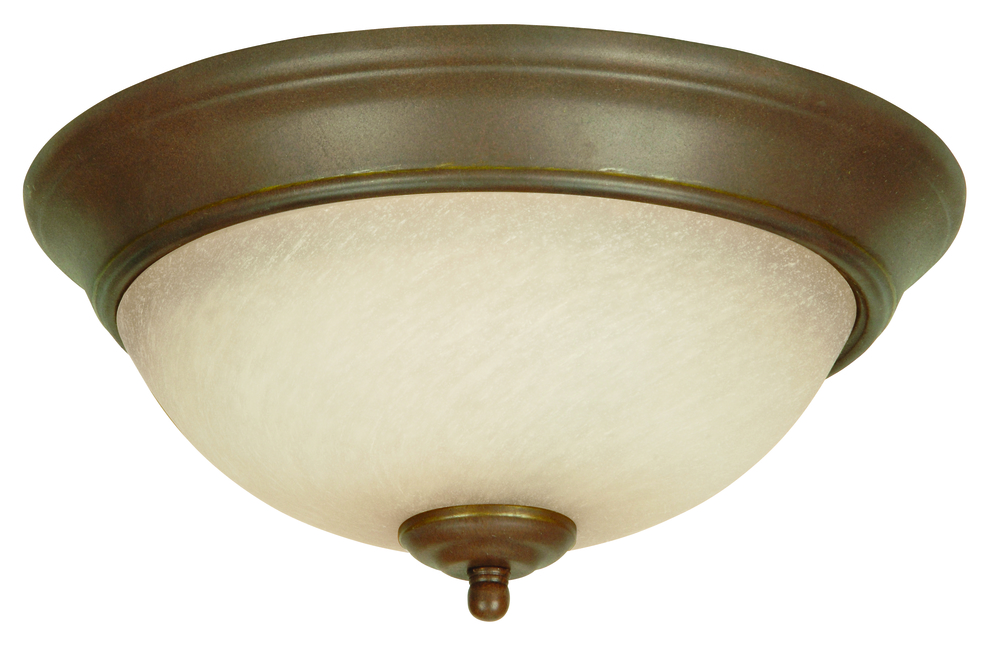 43rd Street Lighting, Inc. in Maple Grove, Minnesota, United States, Jeremiah X711-AG, 2 Light Flushmount in Aged Bronze Textured,