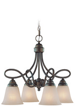 Jeremiah 25024-OB - Cordova 4 Light Down Chandelier in Old Bronze