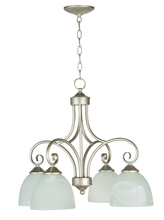 Jeremiah 25324-SN - Raleigh 4 Light Down Chandelier in Satin Nickel