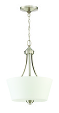 Jeremiah 41943-BNK - Grace 3 Light Inverted Pendant in Brushed Polished Nickel