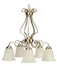 Jeremiah 7125BN5 - Cecilia 5 Light Down Chandelier in Brushed Satin Nickel