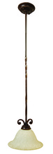 Jeremiah 8112AG1 - Riata 1 Light Pendant in Aged Bronze Textured