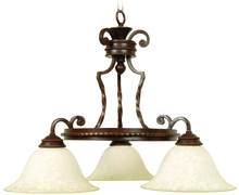 Jeremiah 8127AG3 - Riata 3 Light Down Chandelier in Aged Bronze Textured