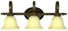 Jeremiah 8128AG3 - Riata 3 Light Vanity in Aged Bronze Textured