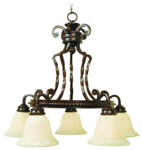 Jeremiah 8129AG5 - Riata 5 Light Chandelier in Aged Bronze Textured