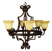 Jeremiah 8134AG6 - Riata 6 Light Chandelier in Aged Bronze Textured