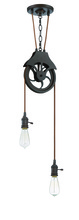 Jeremiah CPMKP-2ABZ - Design-A-Fixture 2 Light Keyed Socket Pulley Pendant Hardware in Aged Bronze Brushed