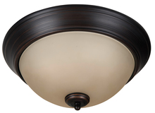 "Jeremiah XP13ABZ-2A - Pro Builder 2 Light 13"" Flushmount in Aged Bronze Brushed"