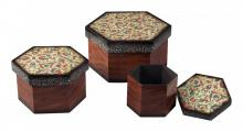 Sterling Industries 118-017 - SET OF 2 FLORAL PRINT BOXES