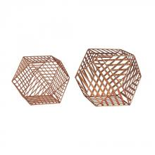 Sterling Industries 3138-256/S2 - Copper Metallic Wire Dodecahedron
