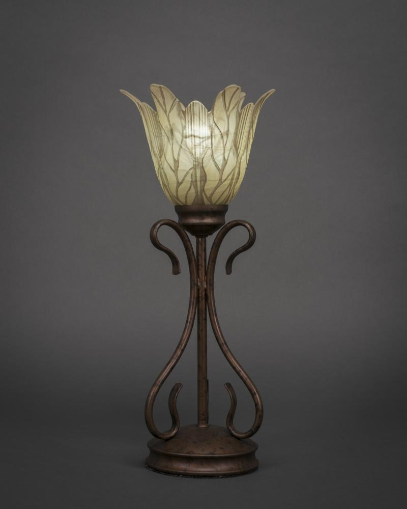 Swan Mini Table Lamp Shown In Bronze Finish