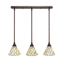 Toltec Company 25-BRZ-9115 - Multi Light Mini Pendant