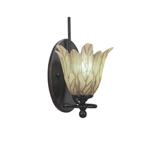 Toltec Company 591-DG-1025 - Capri 1 Light Wall Sconce Shown In Dark Granite Finish