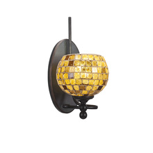 Toltec Company 591-DG-402 - One Light Dark Granite Mosaic Glass Bathroom Sconce