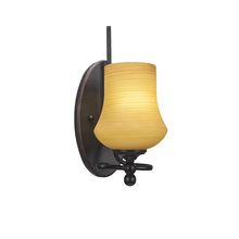 Toltec Company 591-DG-680 - Capri 1 Light Wall Sconce Shown In Dark Granite Finish