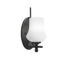 Toltec Company 591-DG-681 - Capri 1 Light Wall Sconce Shown In Dark Granite Finish