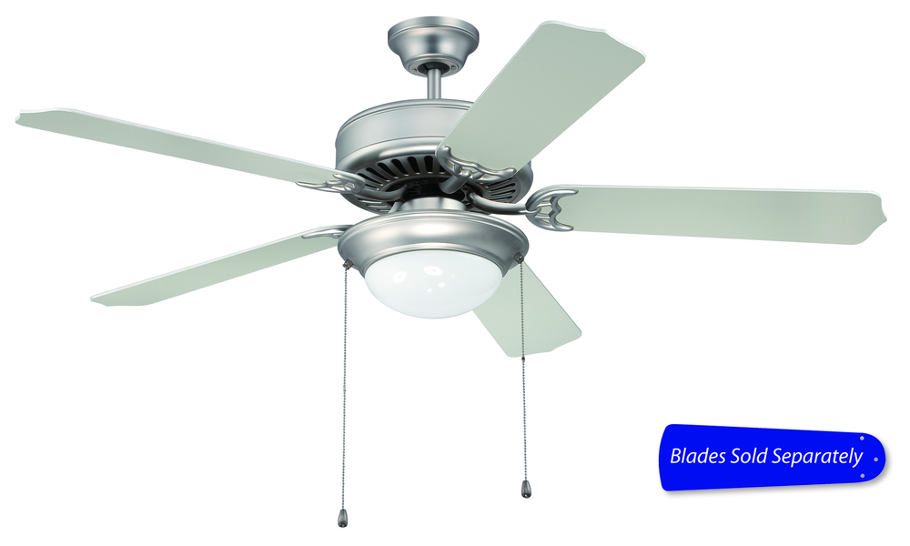 "43rd Street Lighting, Inc. in Maple Grove, Minnesota, United States, Ellington Fan E209BN, Pro Builder 209 52"" Ceiling Fan with Light in Brushed Satin Nickel (Blades Sold Separately), Pro Builder 209"