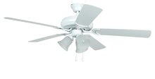 "Ellington Fan DCF52MWW5C3 - Decorator's Choice with 3-light Kit 52"" Ceiling Fan with Blades and Light in Matte White"