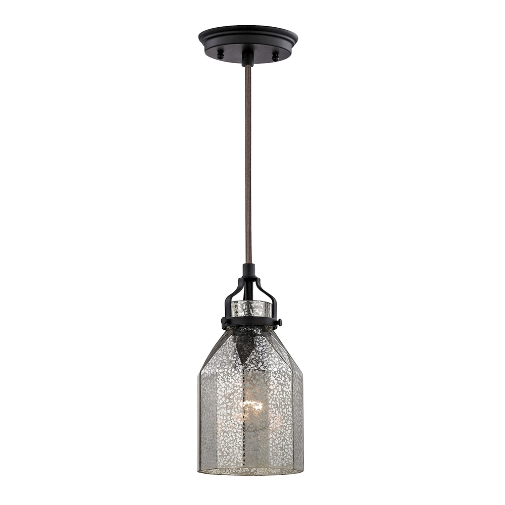 43rd Street Lighting, Inc. in Maple Grove, Minnesota, United States, ELK Lighting 46009/1, Danica 1 Light Pendant In Oil Rubbed Bronze And, Danica