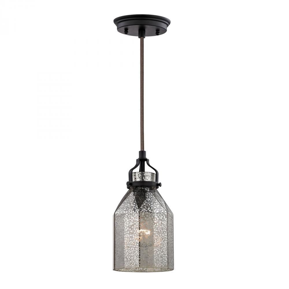 Danica 1 Light Pendant In Oil Rubbed Bronze And