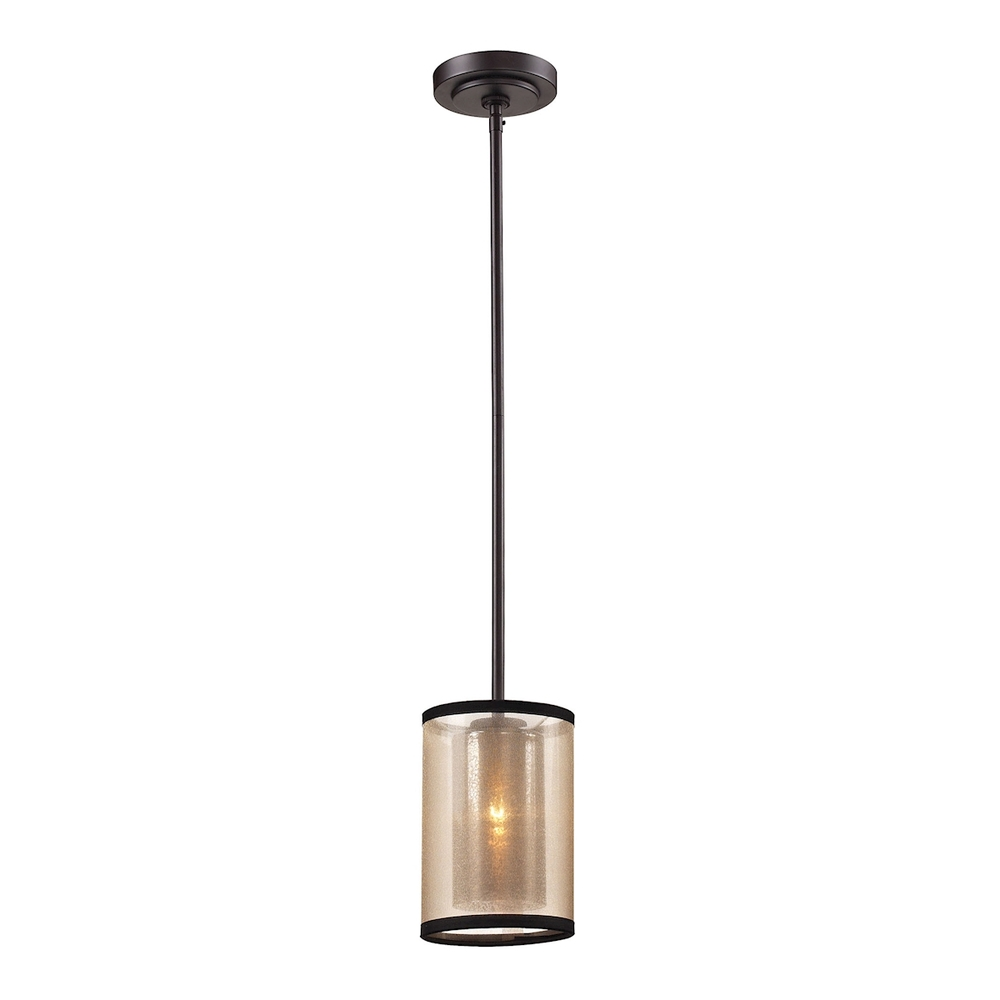 43rd Street Lighting, Inc. in Maple Grove, Minnesota, United States, ELK Lighting 57026/1, Diffusion 1 Light Mini Pendant In Oil Rubbed Bro, Diffusion