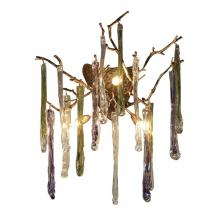 ELK Lighting 1700/4 - Stalavidri 3 Light Wall Sconce In Talha Bronze With Multi-Hued Spires
