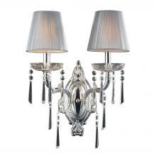 ELK Lighting 2392/2 - Princess 2 Light Wall Sconce In Polished Silver