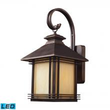 ELK Lighting 42101/1-LED - Blackwell 1-Light Outdoor Wall Lantern in Hazelnut Bronze - Includes LED Bulb