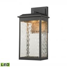 ELK Lighting 45201/LED - Newcastle 1-Light Outdoor Wall Lamp in Textured Matte Black - Integrated LED