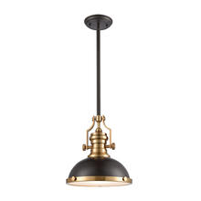 ELK Lighting 66614-1 - Chadwick 1-Light Pendant in Oil Rubbed Bronze with Metal and Frosted Glass