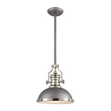 ELK Lighting 67235-1 - Chadwick 1-Light Pendant in Weathered Zinc with Metal and Frosted Glass