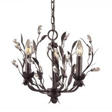 ELK Lighting 8058/3 - Circeo 3 Light Chandelier In Deep Rust And Cryst