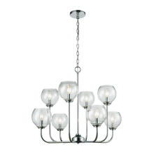 ELK Lighting 81365/4+4 - Emory 8-Light Chandelier in Polished Chrome with Clear Blown Glass