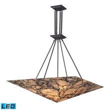 ELK Lighting 9010/9-LED - Imperial Granite 9 Light LED Pendant In Solid An
